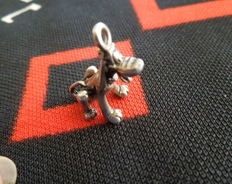 Sterling Hound Dog Charm Vintage Pluto Dog Charm Sterling Silver Charm for Bracelet from Charmhuntress 03282