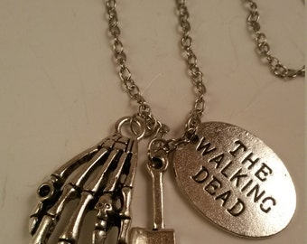 The Walkng Dead Handmade Charm Necklace