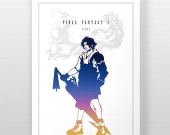 Final Fantasy X 10 Poster, Tidus Print, FF10 Video Game, Tidus Print