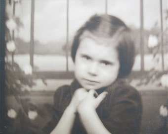 Mama's Little Angel - 1930's Little Girl Photo Booth Photo - Free Shipping