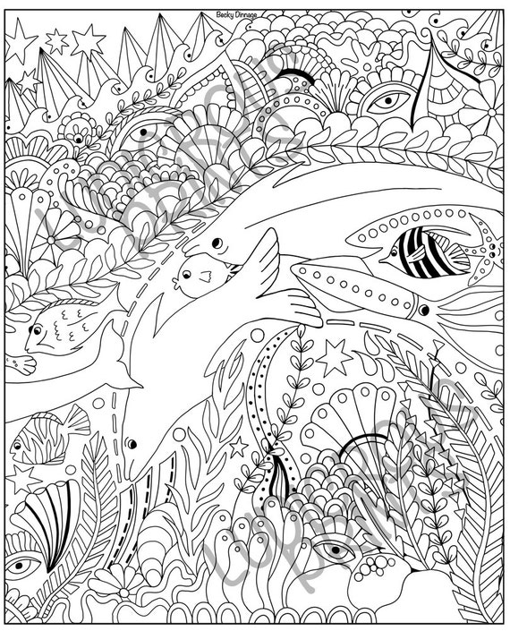 great barrier reef coloring pages - colouring pages for adults coloring doodle sealife ocean calm