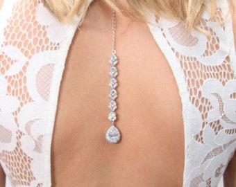 Bridal Necklace, Bridal Back Necklace, Back Necklace Wedding, Back Jewelry, Wedding Accessories, Bohemian Wedding