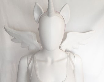 Princess Celestia Costume with wings, ears, unicorn horn, Princess Celestia cosplay, Celestia cosplay, Celestia costume