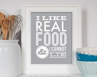 Foodie print, Kitchen Print, Kitchen Art, Healthy Food, Food Print, Kitchen Decor, Housewarming Gift, Foodie Gift, Gluten Free, Paleo