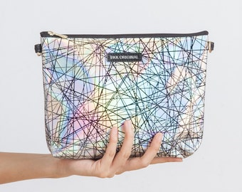 Free Shipping - Hologram Clutch (Silver)