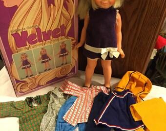 Mod Velvet doll by Ideal/ grow hair/ box & clothes