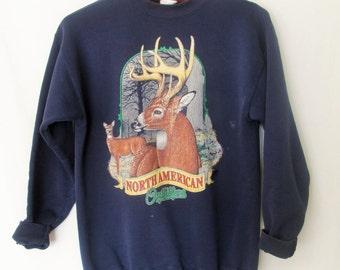 Vintage 1990s North American Outfitters Deer Sweatshirt Sz M