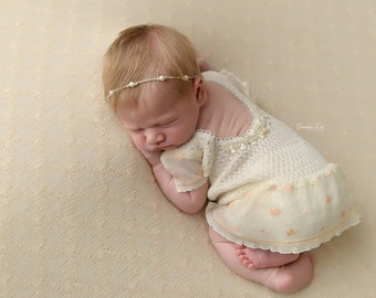 Newborn Romper, Newborn Photo Props, Baby Props, Newborn Props, Lace Romper, Newborn Set, Newborn Skirt, Lace Skirt, Photo Outfit, code 026