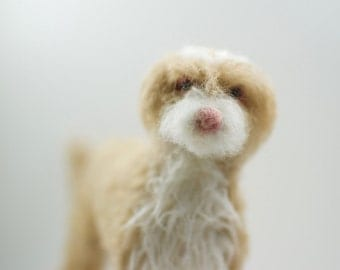 Custom Dog - Needle Felted Shaggy Dog Breed - Made to Order Sculpture