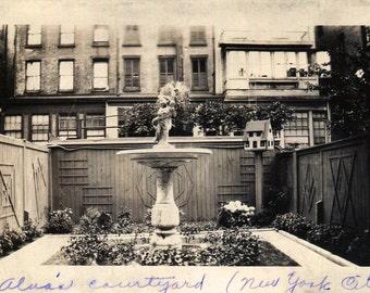 Vintage Photo..Alva's Courtyard NYC 1930's, Found Photo, Old Photo Snapshot, Vernacular Photography, American Social History Photo