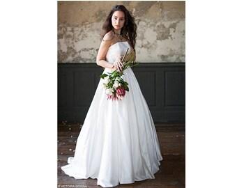 Wedding dress corset wedding dress Low back wedding dress open shoulders wedding dress open back wedding dress ethereal wedding dress Filona