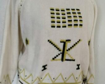 Vintage Greek lettered sweater
