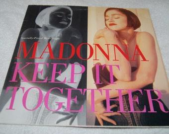 90s Madonna Keep It Together Maxi Single LP record vinyl pop hit remix dance
