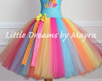 Shopkins inspired tutu dress, Shopkins birthday inspired outfit size nb to 14years