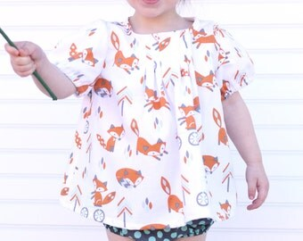 Infant/Toddler/Child Fox Blouse
