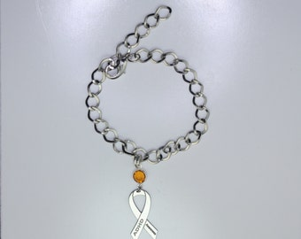 ADHD Awareness Ribbon Bracelet - Attention Deficit Hyperactivity Disorder