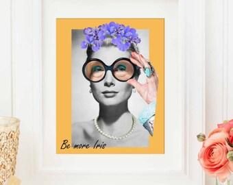 Iris Apfel print - Fashion art illustration for inspirational wall decor