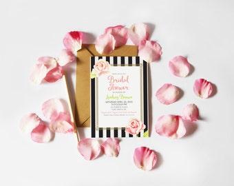 Parisian Floral Bridal Shower Invitation (Printable)