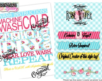 Rose Water- Care Instructions PNG JPG Download File Wash Instructions Tag Label
