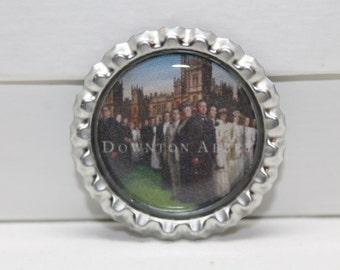 Downton Abbey Photo Bottle Cap Pin/Magnet