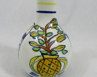Vintage French Pottery Cordon Bleu BIA International Vase Blue White Pottery Mediterranean Home Decor
