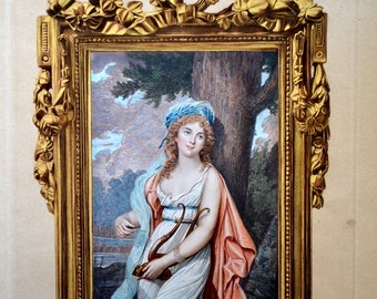 amazing reproduction of 19th century painting, miniature, French