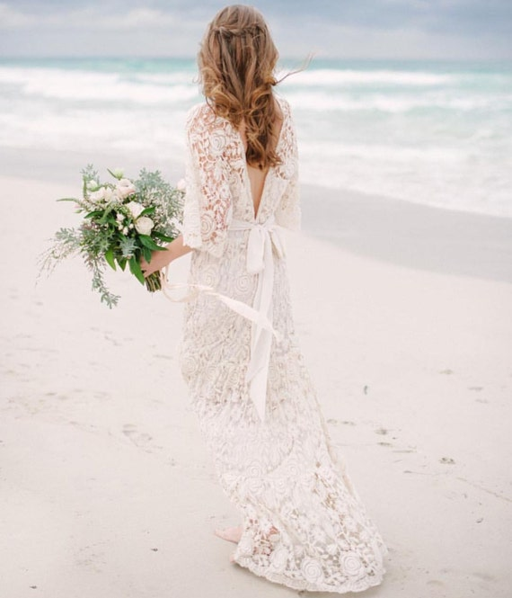 Spring Roses Wedding Gown