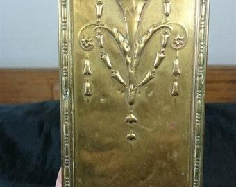 Antique Art Nouveau Arts and Crafts Brass Metal Door Push Plate 1800's