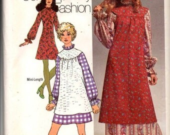 Simplicity 9706 Misses Dress and Smock in Two Lengths Sewing Pattern
