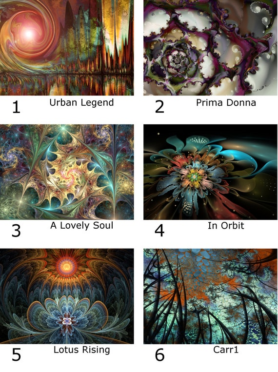 ACEO Fractal Art Open Editions 4