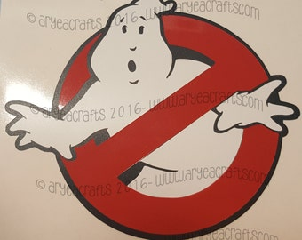 Ghost Busters logo Colored/Layered Vinyl Decal