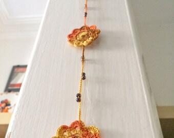 Sunny shades crochet pendant