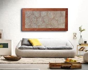 Textured  Decorative Wall Panel - Wood Wall Decor - Handmade Wall Sculpture