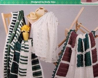 Marvelous Mix & Match Afghans Designed By Darla Sims Crochet Pattern Leaflet 2000