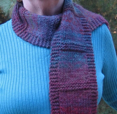 Multi Colored Scarf Knitting Pattern : Fashionable Scarf Hand Knit OOAK Winter Scarf Multi-Colored