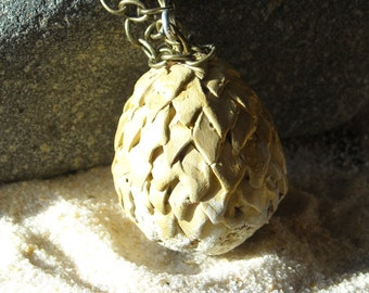 Viserion Dragon Egg Necklace - hand painted- Inspired by Daenerys Targaryen Game of Thrones