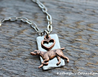 German Shorthaired Pointer Necklace, GSP Necklace, German Shorthair Necklace, GSP jewelry, Pointing Dog, Hunting Dog Jewelry, GSP