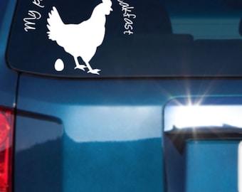 Chicken Car Decal, Chicken Vinyl Decal,Hen Car Decal, Pet Chicken, Pet Hen, Vinyl Car Decal,Laptop Decal, Locker Decal,Window Decal