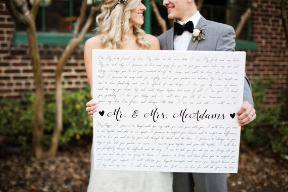 Gift Ideas For Husband On Wedding Day: Valentines Day Gift For Husband And Wife By TheStandardCanvas