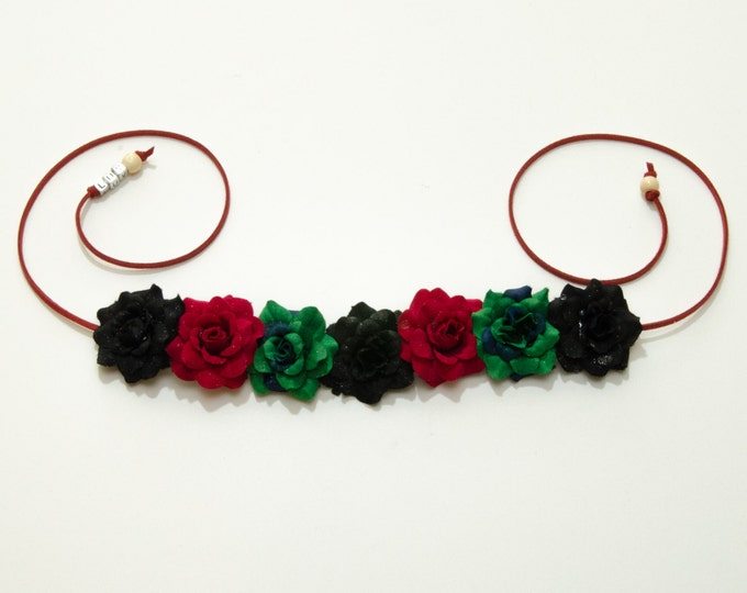 Kwanzaa Rose Flower Crown