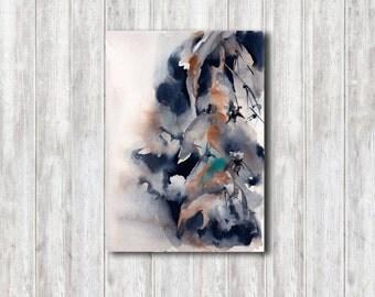 Abstract Watercolor Painting, Original Watercolour Painting Art, Floral Painting, Modern Painting