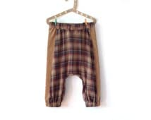 REIZO - samurai pants. Home sewn with fabric from Japan.  Fits between 3-5 years old. 100cm height.