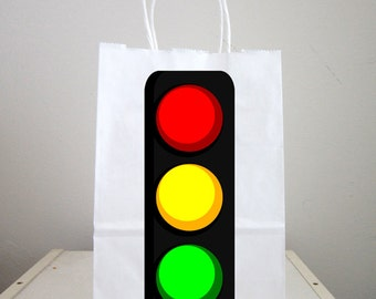 Traffic Light Goody Bags, Traffic Light Favor Bags, Traffic Light Gift Bags