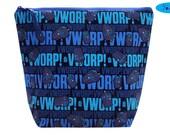 Project Bag | Knitting Bag | Doctor Who Bag | Crochet Bag | Zippered Project Bag | Yarn Bag | Large Wedge Bag