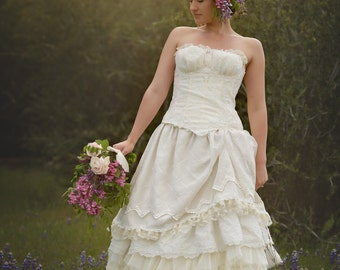 items similar to steampunk wedding dress lace gown