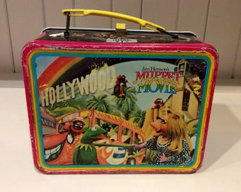 1979 The Muppets Movie Metal Lunch Box by Thermos Division of King Seeley, Muppets Lunchbox, Muppets Metal Lunch Box, Miss Piggy, Muppet