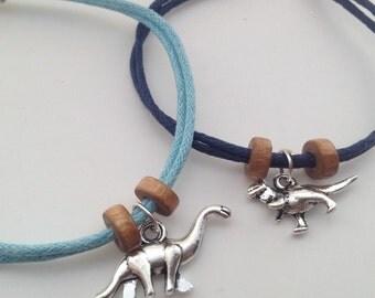 Dinosaur Bracelets - Best Friends bracelet Bohemian Bracelet friendship bracelets cord bracelet geekery bracelet boho bracelet surf bracelet
