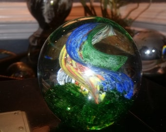 Hand Blown Large Glass Paperweight