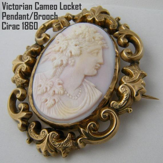1860 Victorian Cameo Pendant
