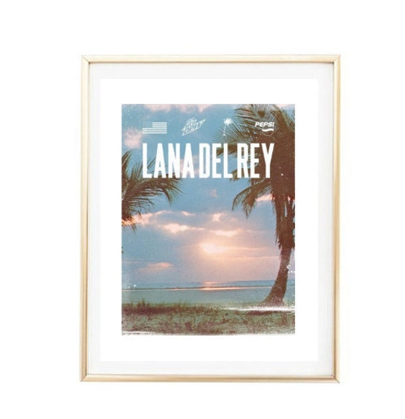 Wall Decor Framed Quotes : Items similar to lana del rey poster photo print